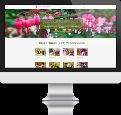 Esempio di adattamento automatico del layout su desktop, tablet e smartphone di siti web realizzati con responsive design