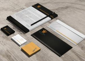 Esempio di Biglietti da visita, carta intestata e buste da lettera eleganti e coordinati