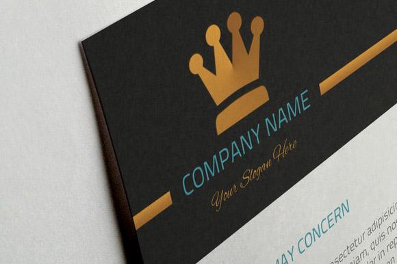 Particolare del logo personalizzabile, nel modello di carta intestata