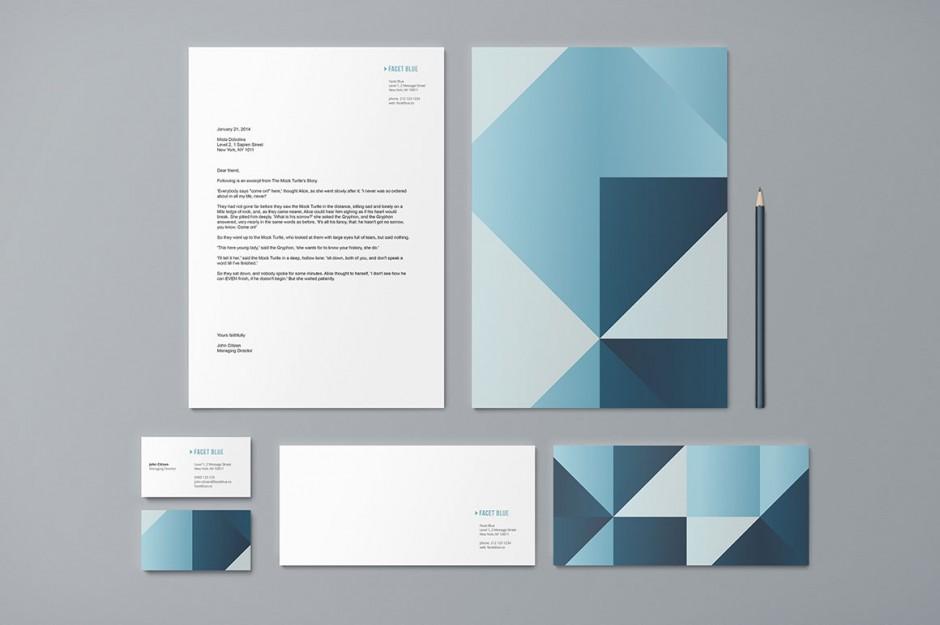 Modello per Carta Intestata, Carta da lettera personalizzata, Biglietti da Visita