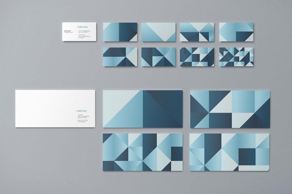 Esempi di diverse texture e scale colore per i biglietti da visita (business card)