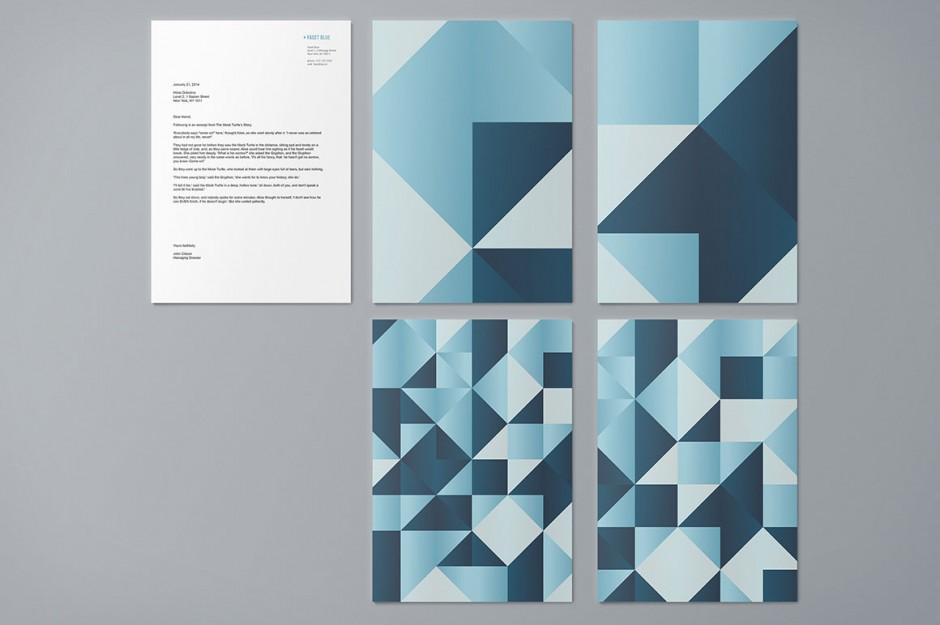 Esempi di diverse texture e scale colore per le copertine della Carta intestata