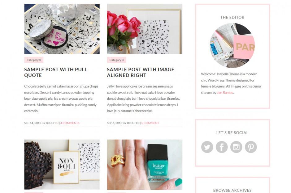 Un sito internet raffinato per un pubblico al femminile