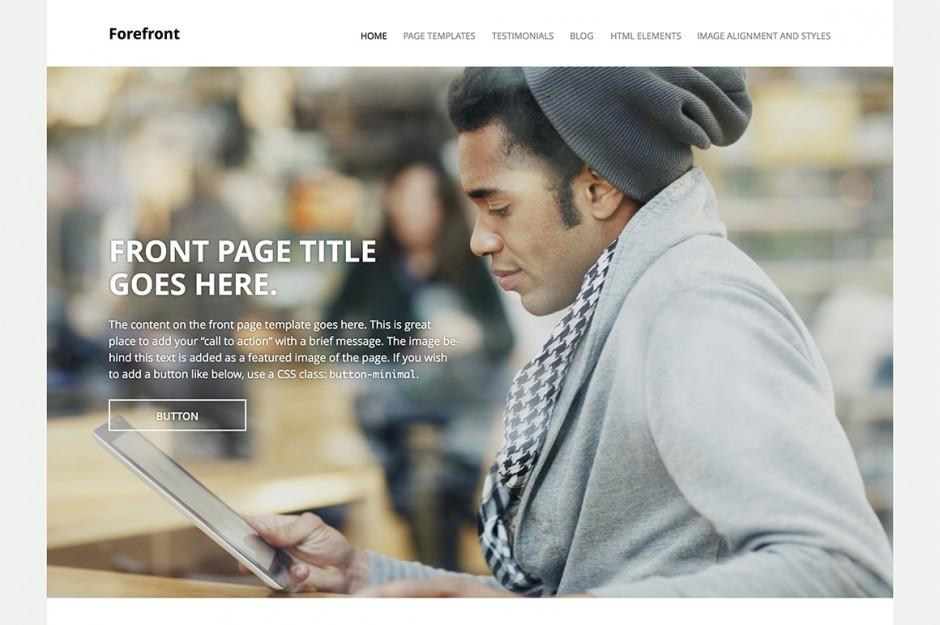 Un sito responsivo, con immagine principale a tutta grandezza