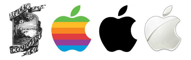 Differenza tra Brand, Brand Identity e l'evoluzione del Logo Design della mela morsicata di Apple