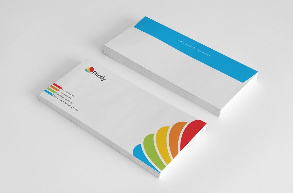 Cartellina, biglietti da visita, carta e busta intestata per Corporate Identity (3)