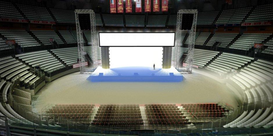 Studio restituzione 3D del palco per evento di Comunicazione Aziendale