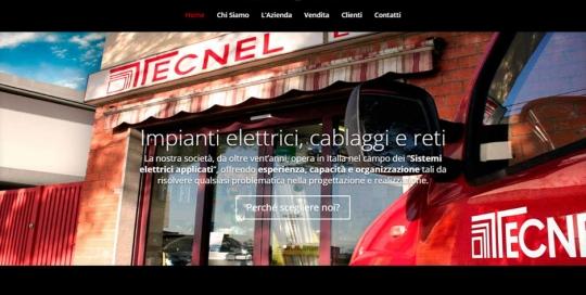 Illuminazione, grandi impianti e domotica in un sito web