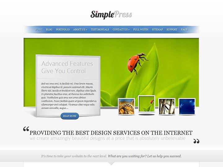 Immagini di presentazione con miniature per il vostro sito web