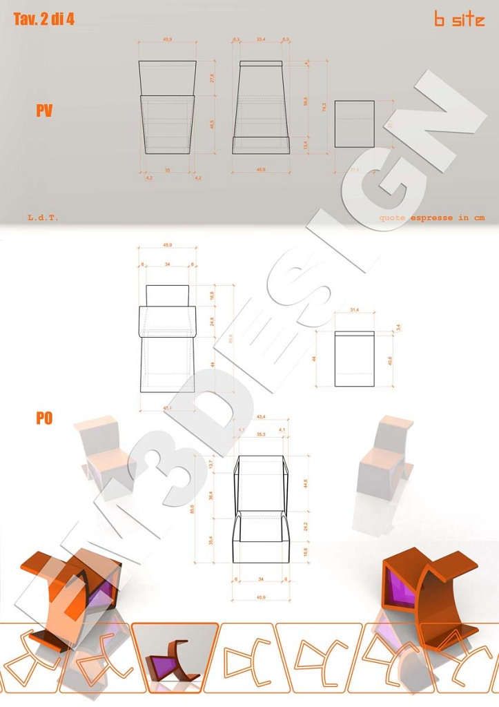 Industrial design, progettare una sedia trasformista: b-site (2)