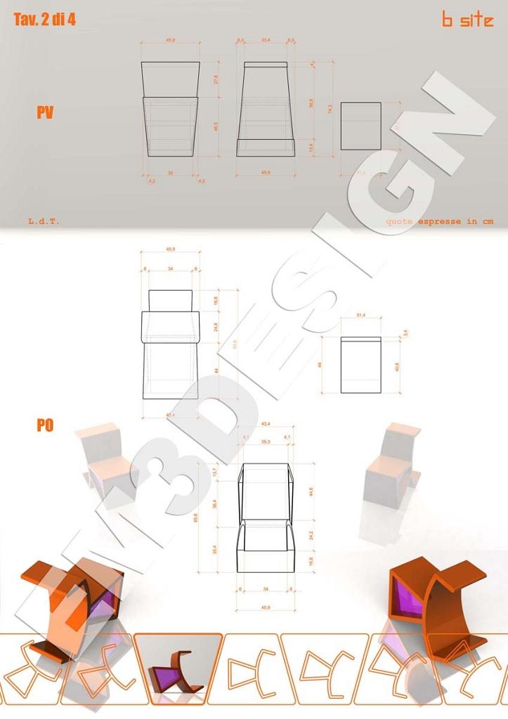 Industrial design progettare una sedia trasformista b for Industrial design sites