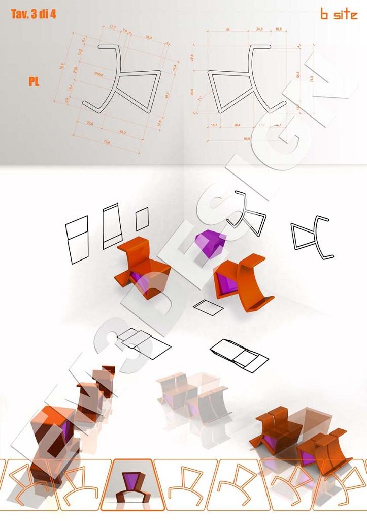 Industrial design, progettare una sedia trasformista: b-site (3)