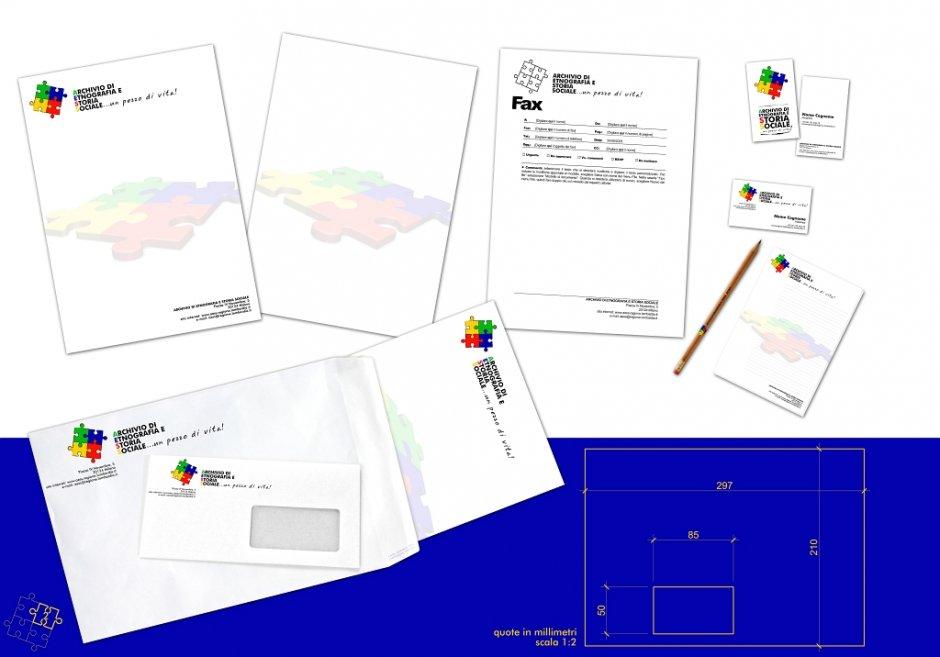Progettazione Coordinati aziendali personalizzati, biglietti da visita, carta intestata, blocchi appunti, ecc.