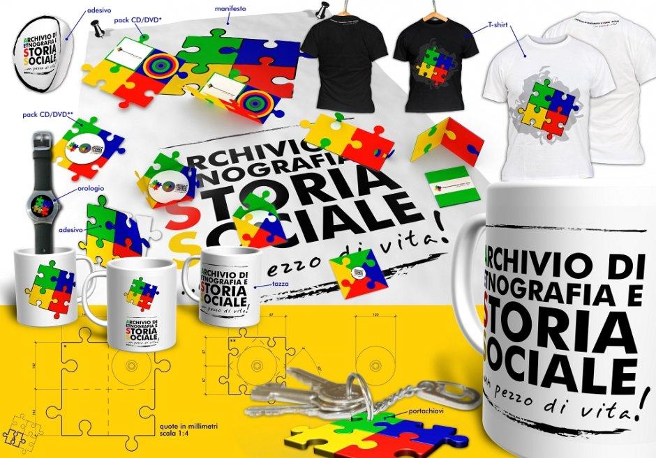 Gadget design: il logo aziendale è impresso su tazze, magliette, orologi, portachiavi, cover cd-dvd