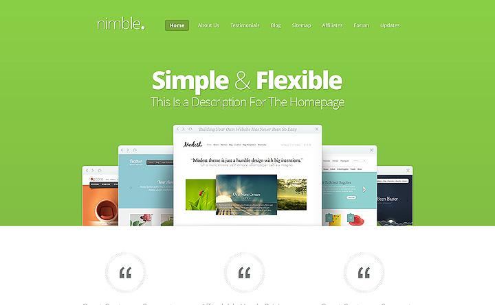 Sito web dai colori decisi in stile flat design e responsive