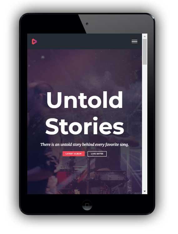 Ssito web flessibile e Responsive su iPad