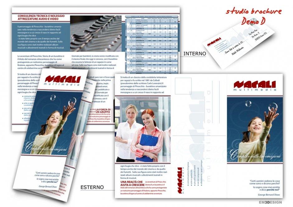 Design allegro per Opuscoloaziendale a 2 pieghe (3 colonne)