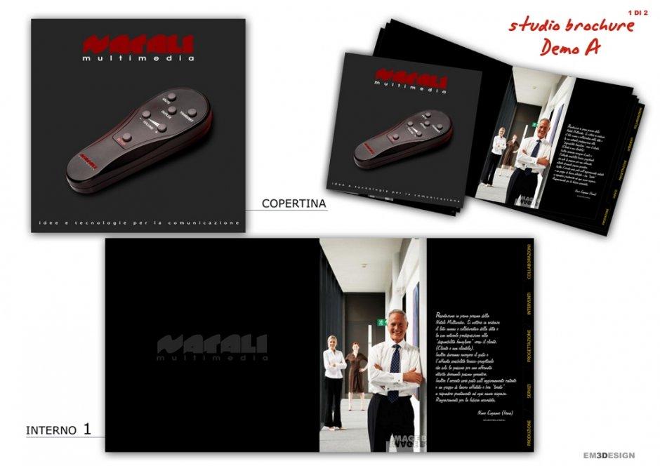 Studio Brochure Pieghevole Con Varianti Stilistiche Per Immagine