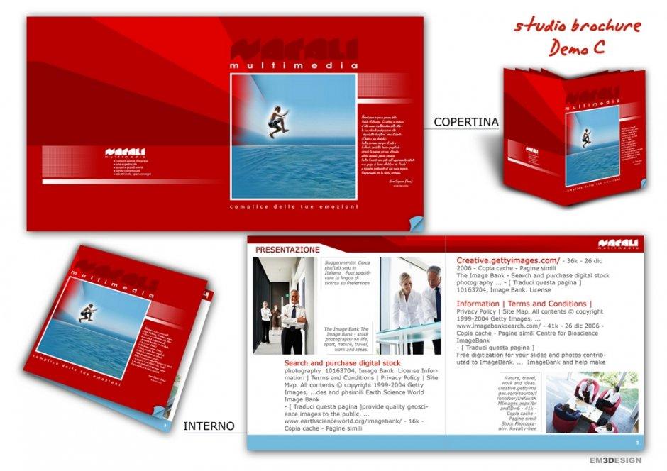 Layout Brochure tono su tono per comunicazione aziendale
