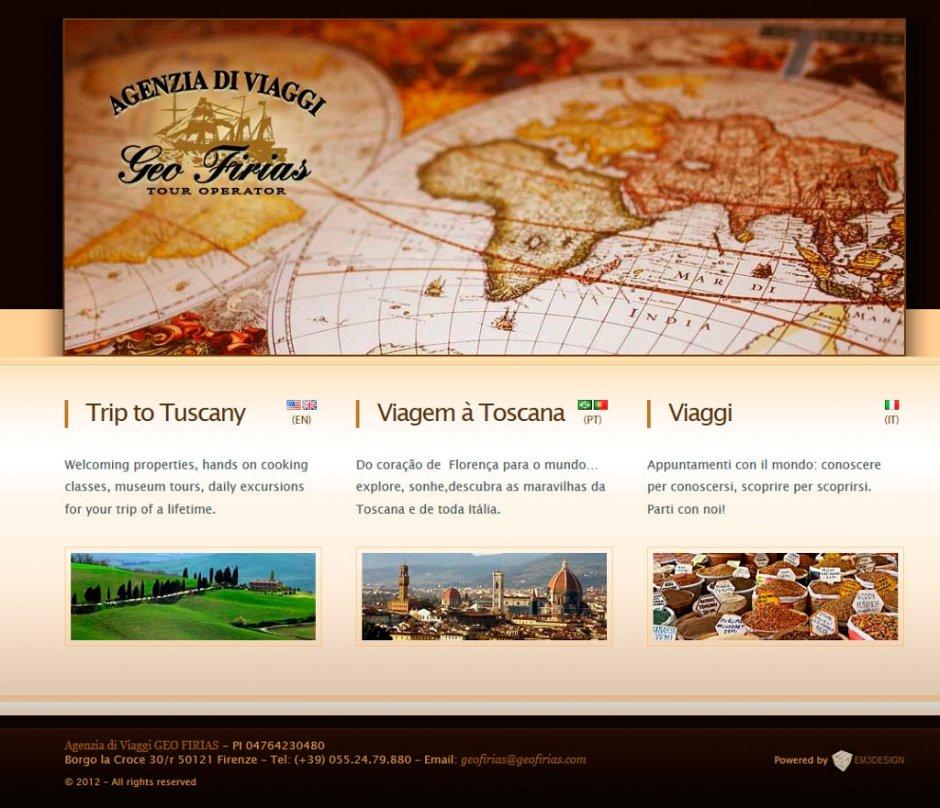 Ecco un sito web per un'Agezia di viaggi