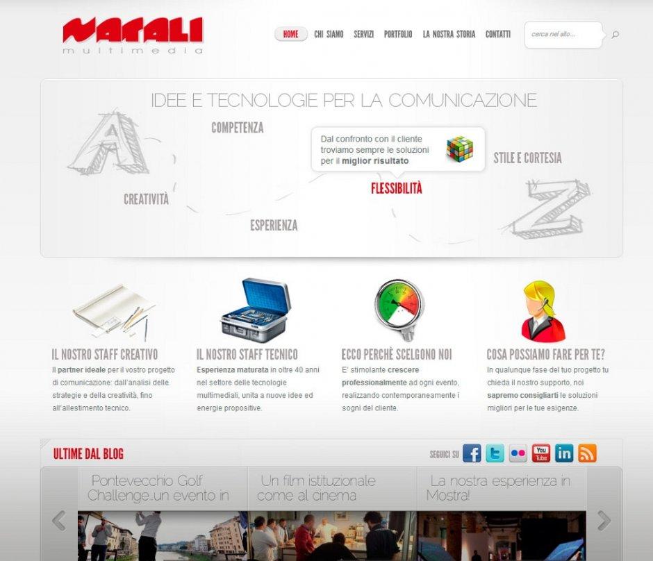 Un sito web realizzato per un'azienda di comunicazione