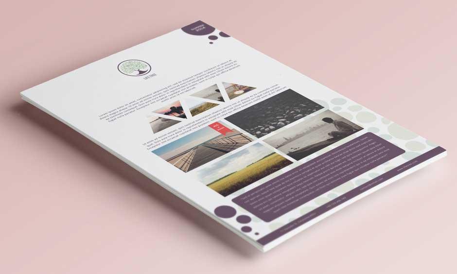 Esempio di coordinato grafico per Brand Identity: volantini, flyer, rivista A4
