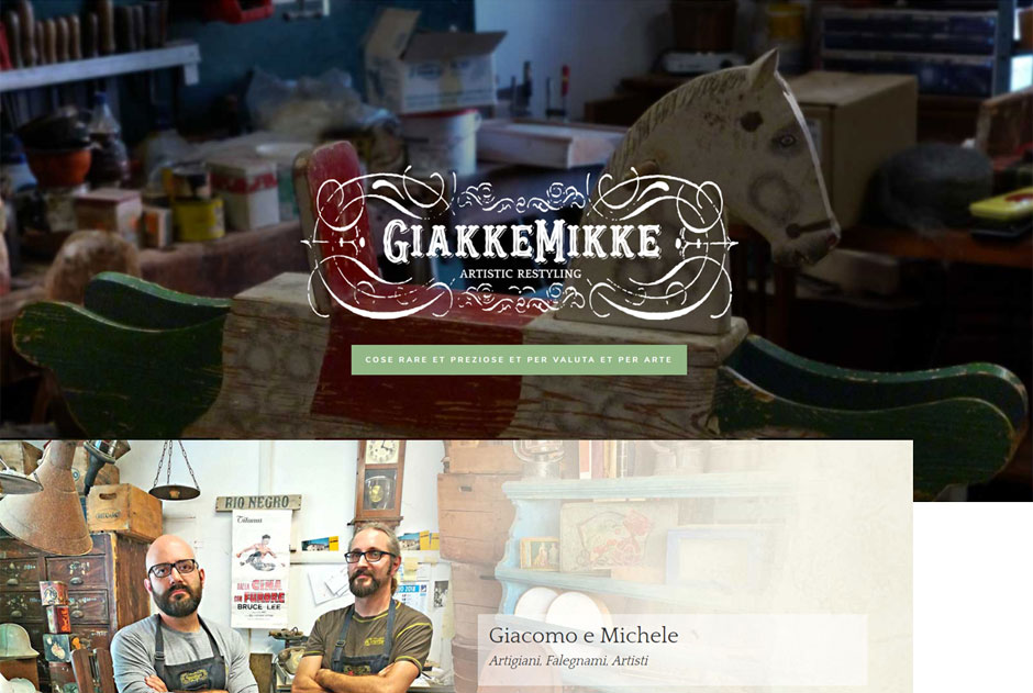 GiakkeMikke il design retro in un sito web moderno