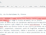 Strana formattazione del testo copiato da Word a WordPress