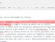Strana formattazione del testo copiato da Word a WordPress