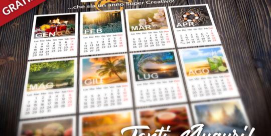 Calendario 2018 EM3DESIGN Tanti Auguri