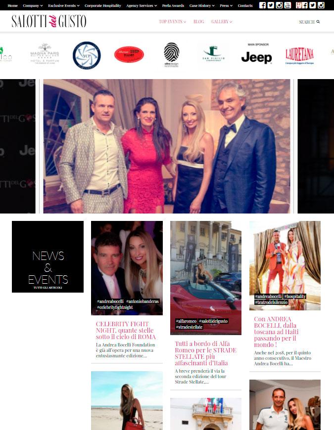 Portale della Moda, Eventi, Glamour realizzato in WordPress