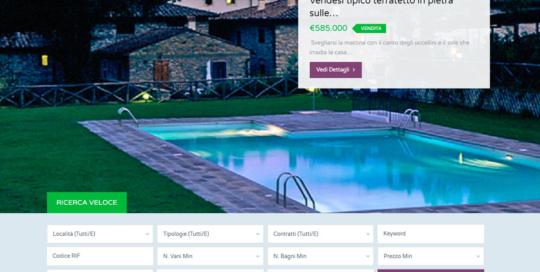 Sito Web Agenzia Immobiliare WordPress con motore di ricerca avanzato