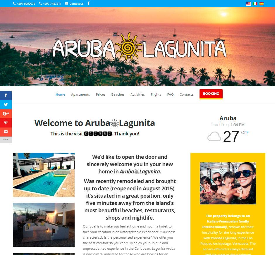 Sito per vacanze affitti turistici isola di Aruba