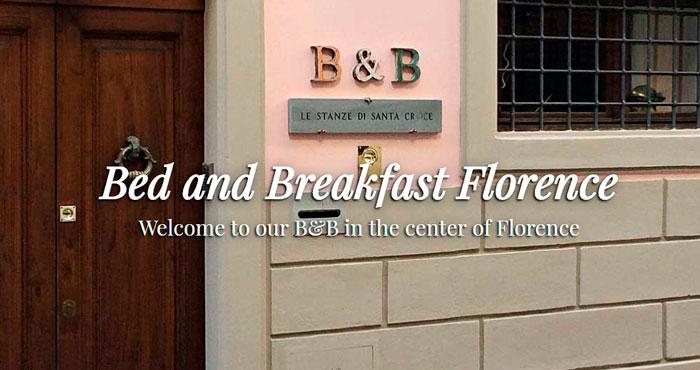 Targa ingresso Bed and Breakfast base per logo aziendale