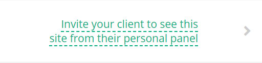 Invito clienti ad interagire attraverso il loro pannello personale