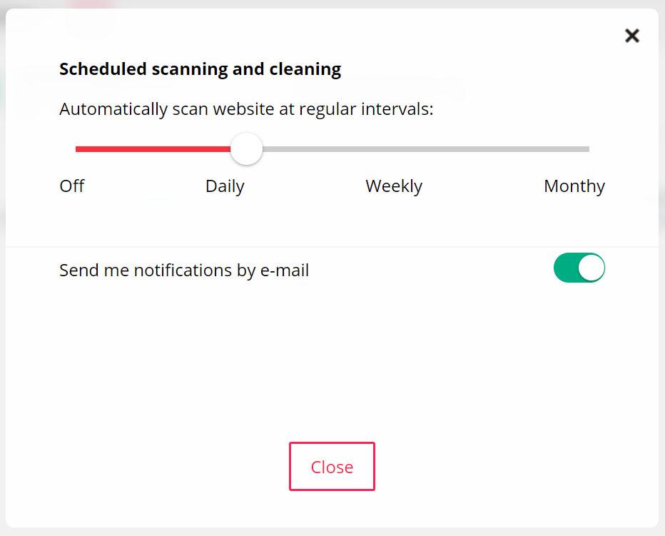 Scheduling dello scanner di controllo di Virusdie