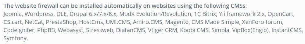 Virusdie funziona con tutti i CMS conosciuti come WordPress
