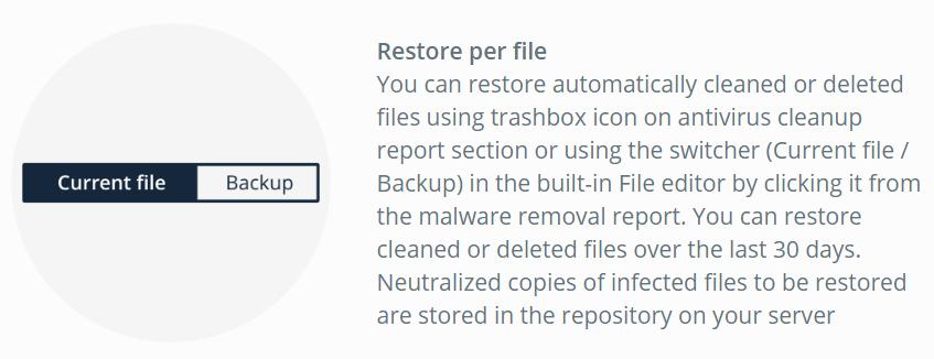 virusdie restore files