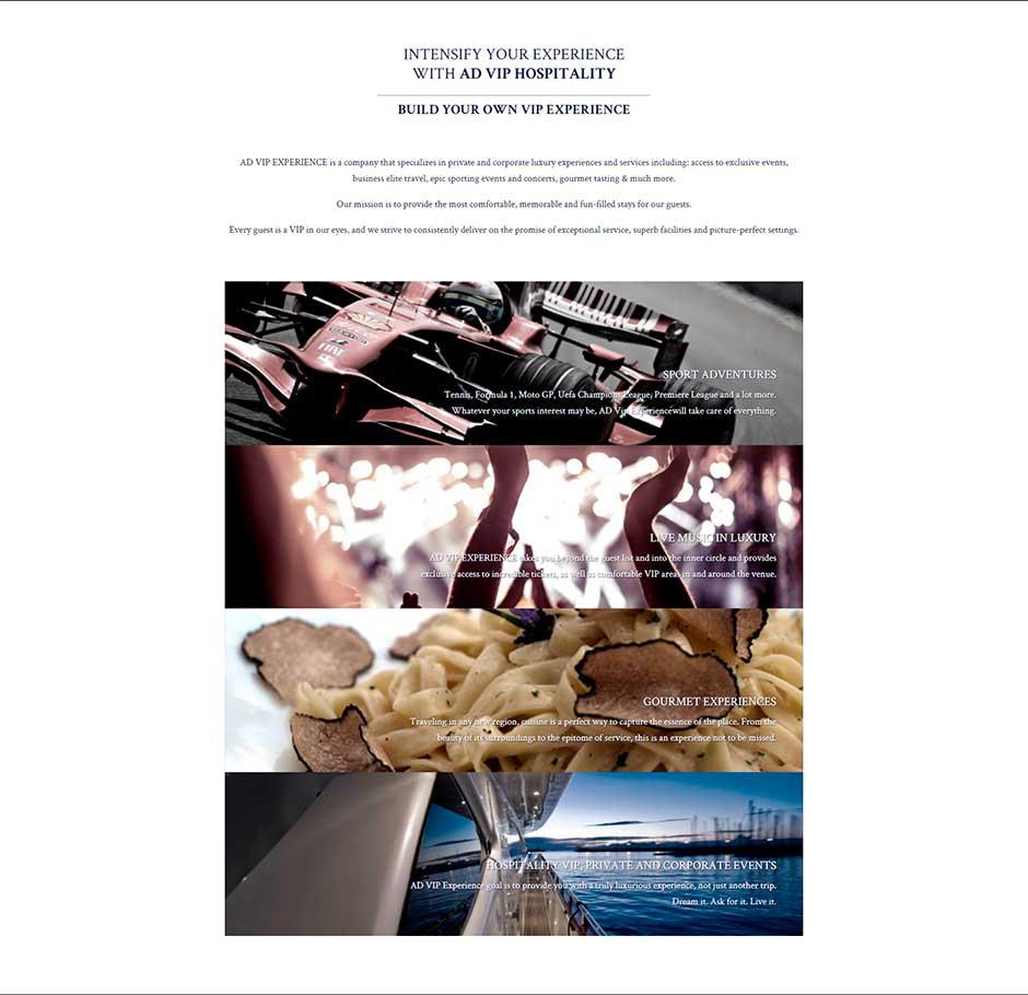 La migliore pagina di destinazione per il business Advipexperience corpo centrale